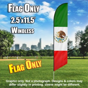 MEXICO red white green windless flag