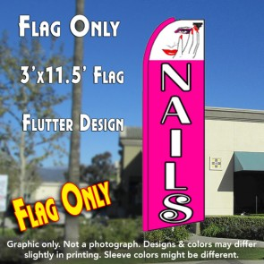 NAILS (Hand) Flutter Feather Banner Flag (11.5 x 3 Feet)