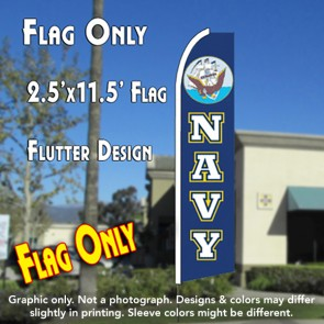 NAVY Flutter Feather Banner Flag (11.5 x 2.5 Feet)