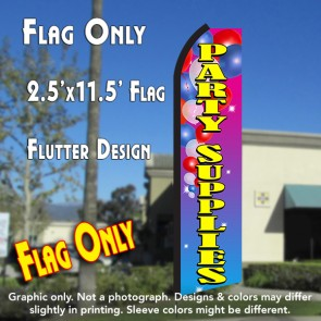 PARTY SUPPLIES (Balloons) Flutter Polyknit Feather Flag (11.5 x 2.5 feet)