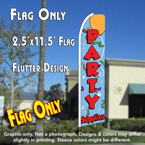 PARTY SUPPLIES (Blue) Flutter Feather Banner Flag (11.5 x 2.5 Feet)