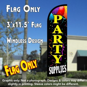 Party Supplies Windless Polyknit Feather Flag (3 x 11.5 feet)