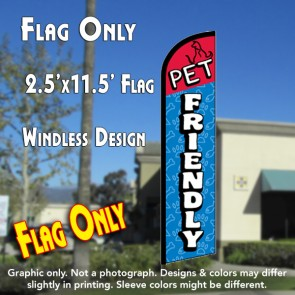 PET FRIENDLY Windless Feather Banner Flag (2.5 x 11.5 Feet)