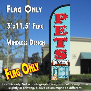 Pets Windless Polyknit Feather Flag (3 x 11.5 feet)