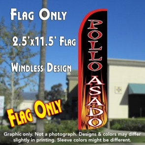 POLLO ASADO WINDLESS POLYKNIT FEATHER FLAGS