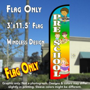 Pre-School (Multicolor) Windless Polyknit Feather Flag (3 x 11.5 feet)