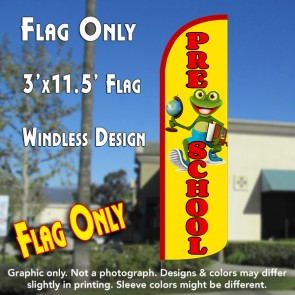 Pre-School (Yellow/Red) Windless Polyknit Feather Flag (3 x 11.5 feet)