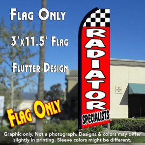 RADIATOR SPECIALISTS (Checkered) Flutter Feather Banner Flag (11.5 x 3 Feet)