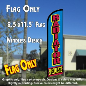 RADIATOR SPECIALISTS Windless Feather Banner Flag (2.5 x 11.5 Feet)