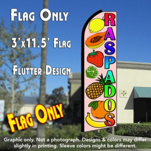 RASPADOS (Smoothies) Flutter Feather Banner Flag (11.5 x 3 Feet)