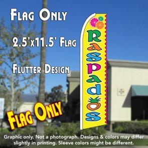 Raspados (Yellow) Flutter Feather Banner Flag (11.5 x 2.5 Feet)