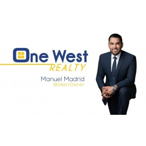 One West Realty business cards matte with spot uv 16 pt round corners 1/8