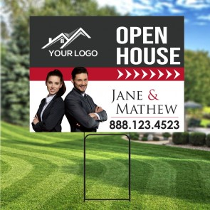 "Digital Full color 18"" x 24"" Yard Signs with Free Stakes"