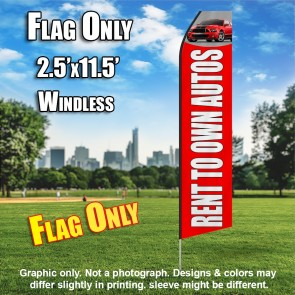 RENT TO OWN red white car flutter flag