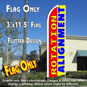 ROTATION/ALIGNMENT (Red/Yellow) Flutter Feather Banner Flag (11.5 x 3 Feet)