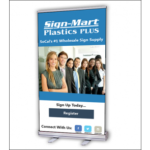 RS2L-48 Retractor Banner Stand