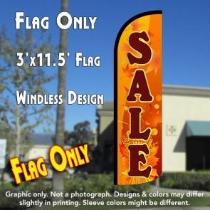 Sale (Fall Theme) Windless Polyknit Feather Flag (3 x 11.5 feet)