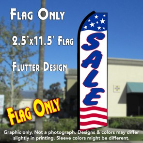 SALE (Stars & Stripes) Flutter Polyknit Feather Flag (11.5 x 2.5 feet)