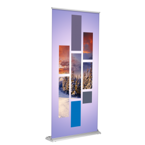 "Banner Stand - SD Retractable 36""x80"" (Silver)"