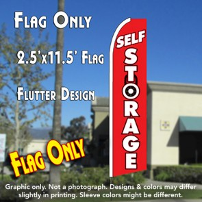 SELF STORAGE (Lock) Flutter Feather Banner Flag (11.5 x 2.5 Feet)
