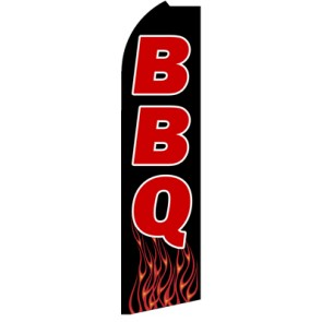 BBQ (Flames)  Feather Banner Flag