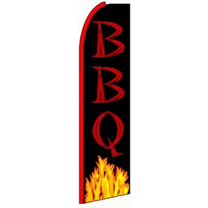 BBQ (Yellow Flames) Feather Banner Flag
