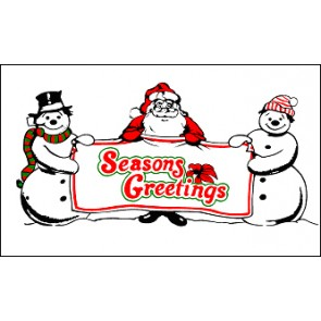 SEASON'S GREETINGS Feather Banner Flag