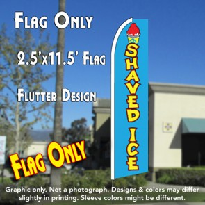 SHAVED ICE (Blue) Flutter Feather Banner Flag (11.5 x 2.5 Feet)