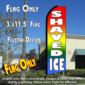 SHAVED ICE (Multi-color) Flutter Feather Banner Flag (11.5 x 3 Feet)