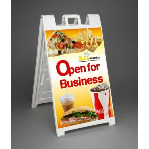 Signicade® Deluxe Sign Stand - Aframe full color