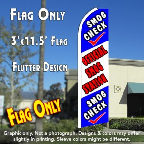 SMOG CHECK (Official) Flutter Feather Banner Flag (11.5 x 3 Feet)