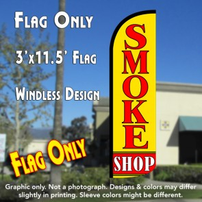 Smoke Shop Windless Polyknit Feather Flag (3 x 11.5 feet)