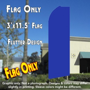 Solid BLUE Flutter Feather Banner Flag (11.5 x 3 Feet)
