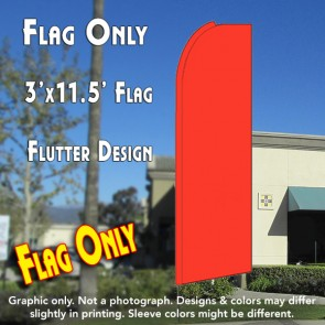 Solid BRIGHT ORANGE (Caution) Flutter Feather Banner Flag (11.5 x 3 Feet)