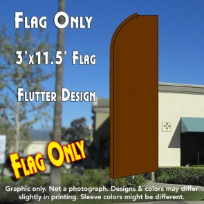 Solid BROWN Flutter Feather Banner Flag (11.5 x 3 Feet)