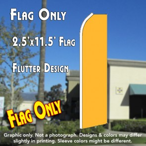 Solid Gold Flutter Feather Banner Flag (11.5 x 2.5 Feet)