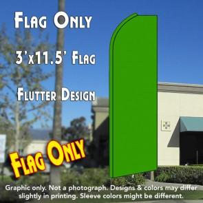 Solid GREEN Flutter Feather Banner Flag (11.5 x 3 Feet)