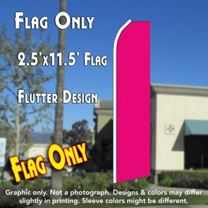 Solid MAGENTA Flutter Feather Banner Flag (11.5 x 2.5 Feet)