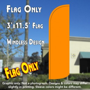 Solid Orange Windless Polyknit Feather Flag (3 x 11.5 feet)