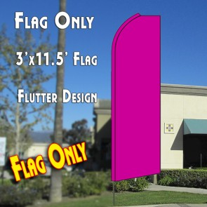 Solid PINK Flutter Feather Banner Flag (11.5 x 3 Feet)