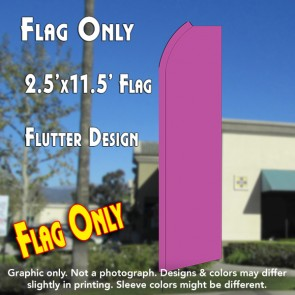 Solid PINK Flutter Polyknit Feather Flag (11.5 x 2.5 feet)