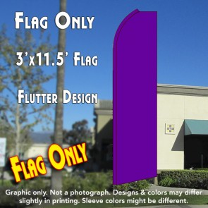 Solid PURPLE Flutter Feather Banner Flag (11.5 x 3 Feet)