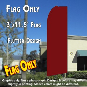 Solid SHIMMERY BURGUNDY Flutter Feather Banner Flag (11.5 x 3 Feet)