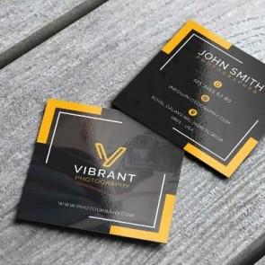 "Square Business Cards UV 2"" x 2"" 16PT on 4-color side(s)"