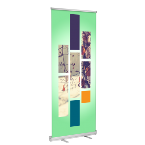 "Standard Retractable Banner Stand 33""x81"" (black)"