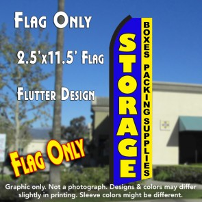 STORAGE Boxes Packing Supplies (Blue/Yellow) Flutter Polyknit Feather Flag (11.5 x 2.5 feet)