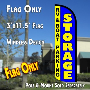 storage blue feather banner flag