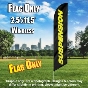 SUSPENSION black yellow windless flag