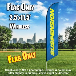 SUSPENSION blue yellow windless flag