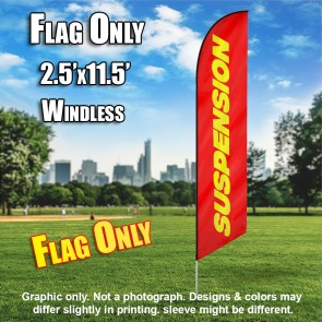 SUSPENSION red yellow windless flag